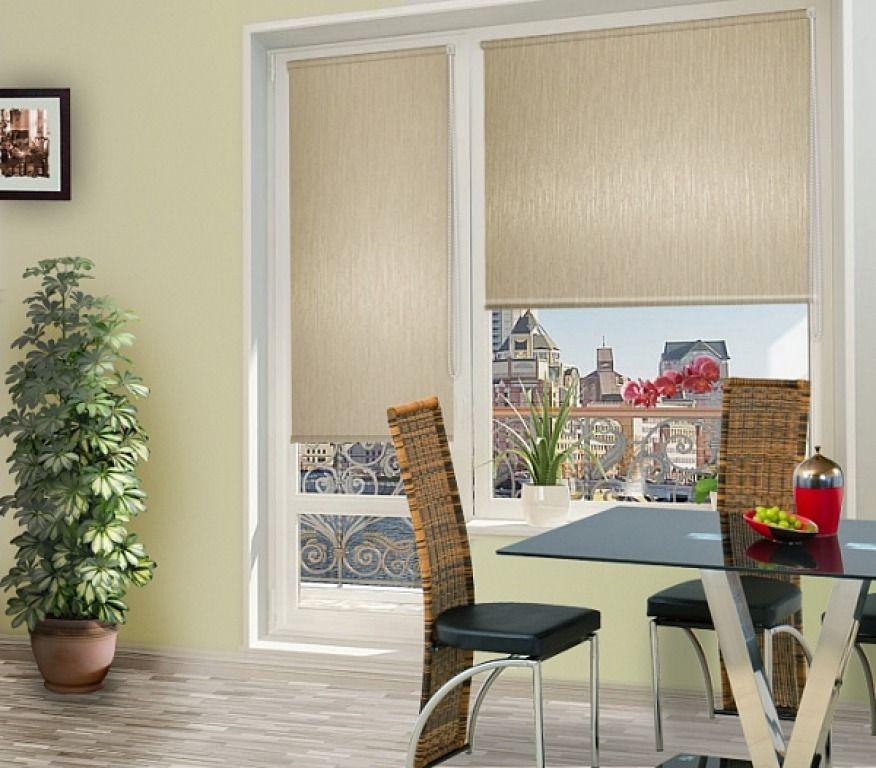 Миниролло люкс на балконную дверь, купить по доступной цене .